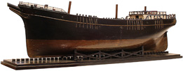 Ship's builder model hull