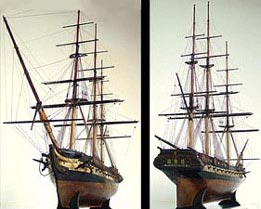 Maquette statique - USS Constitution - 1878